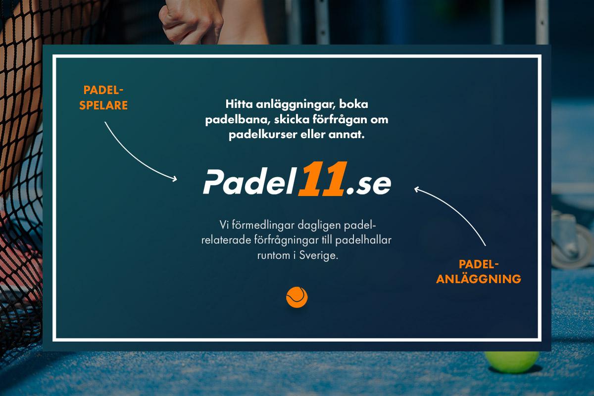 Padel11.se - länken mellan padelhallar och kundförmedlingar.